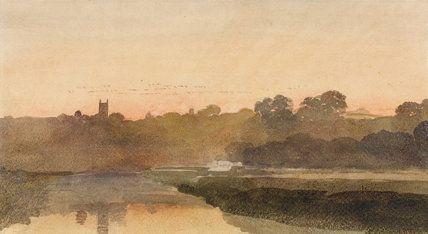 Peter De Wint Landscape Sketch Movie Artwork Watercolor Landscape