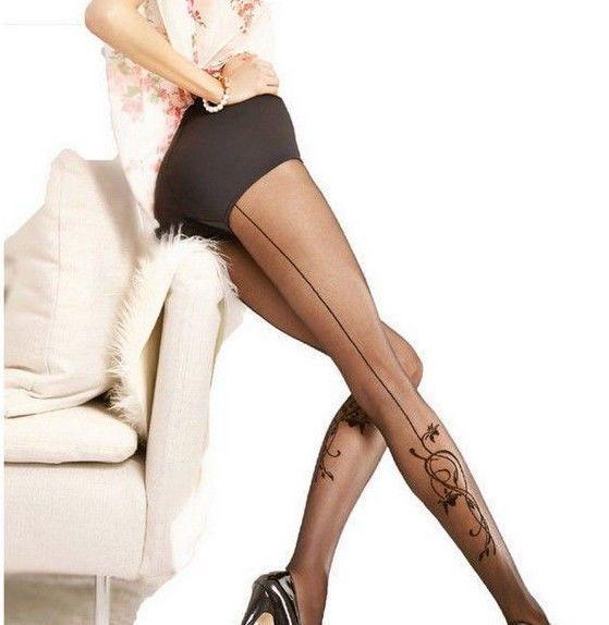 Bien-aimé Collant fantaisie tatouage mollet couture Femme sexy 20 den Gatta  NI16