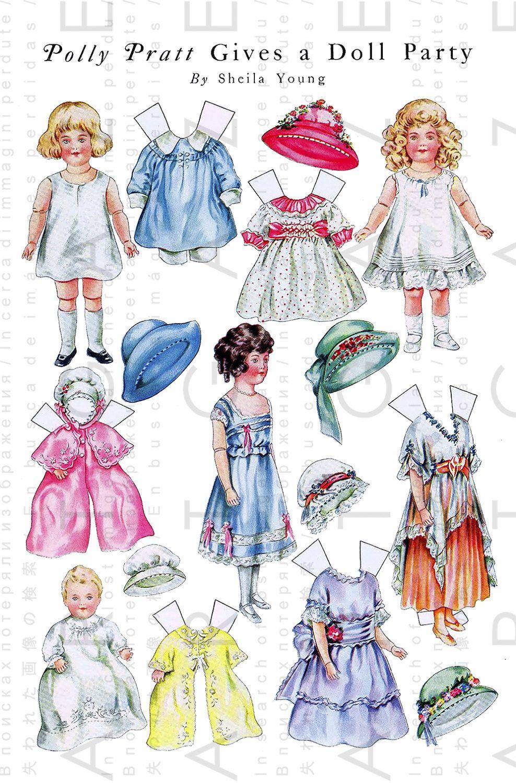 Polly Pratt S Doll Party Vintage Edwardian Paper Dolls Paper Dolls Vintage Paper Dolls Vintage Paper