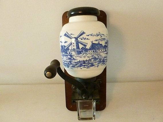 French Vintage Wall Mounted Coffee Grinder On Etsy 63 87