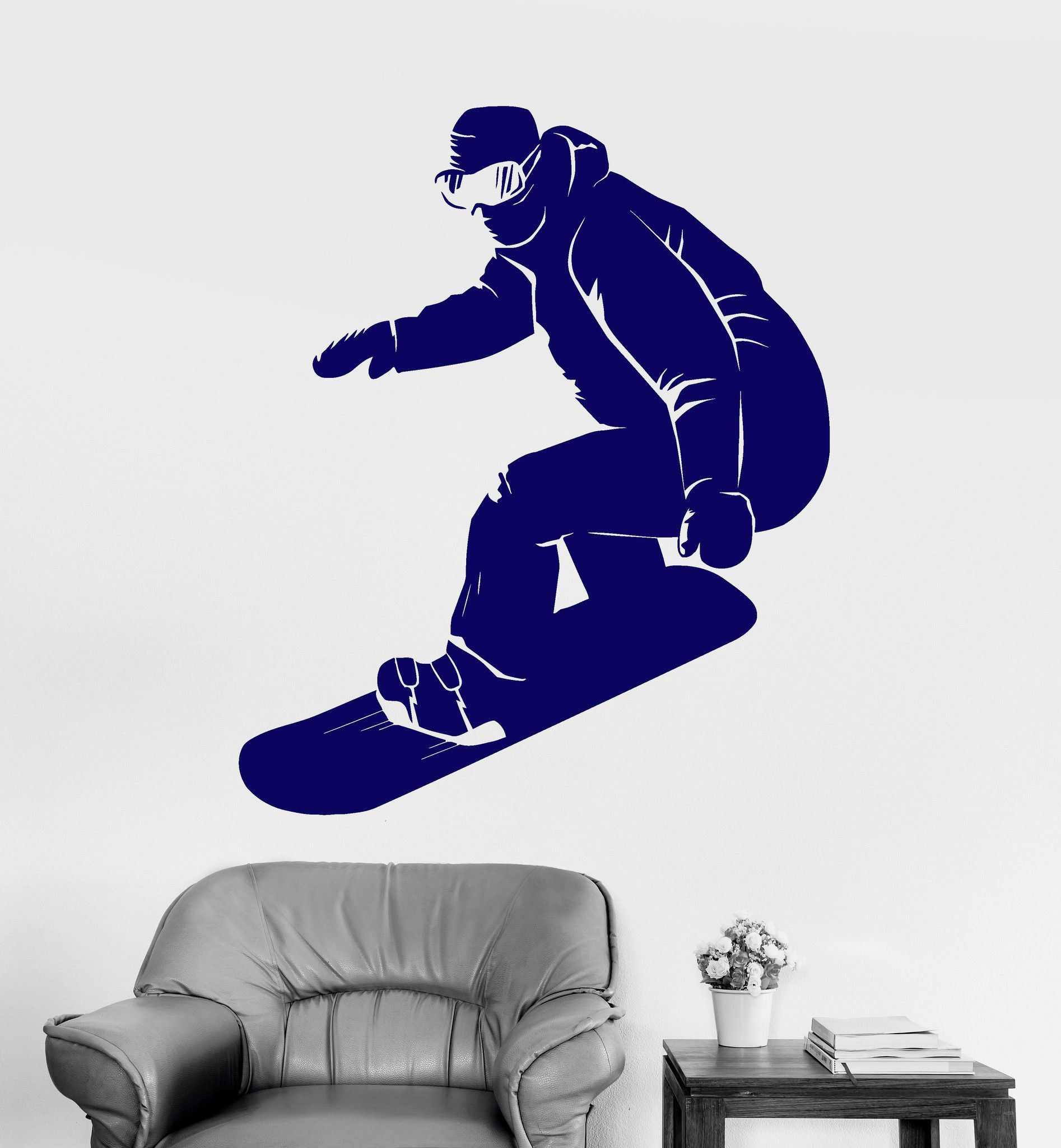 Vinyl Wall Decal Snowboarder Extreme Sport Snowboarding