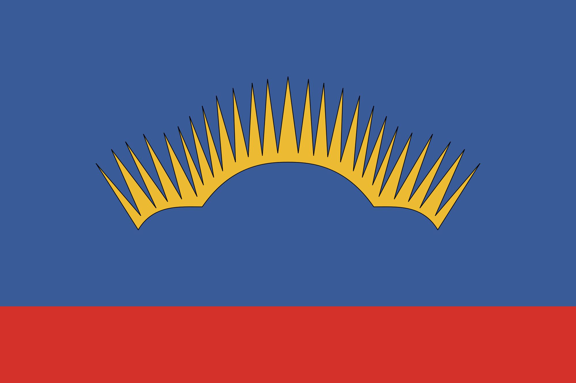 Murmanks Oblast With Stylized Aurora Borealis Flag Karta Mir