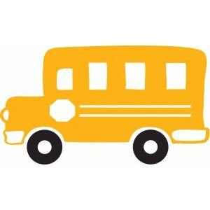 School bus simple. Cricut projects silhouette design