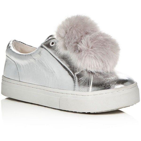 d93a0c23813494 Sam Edelman Leya Metallic Faux Fur Pom-Pom Slip-On Sneakers ( 76 ...