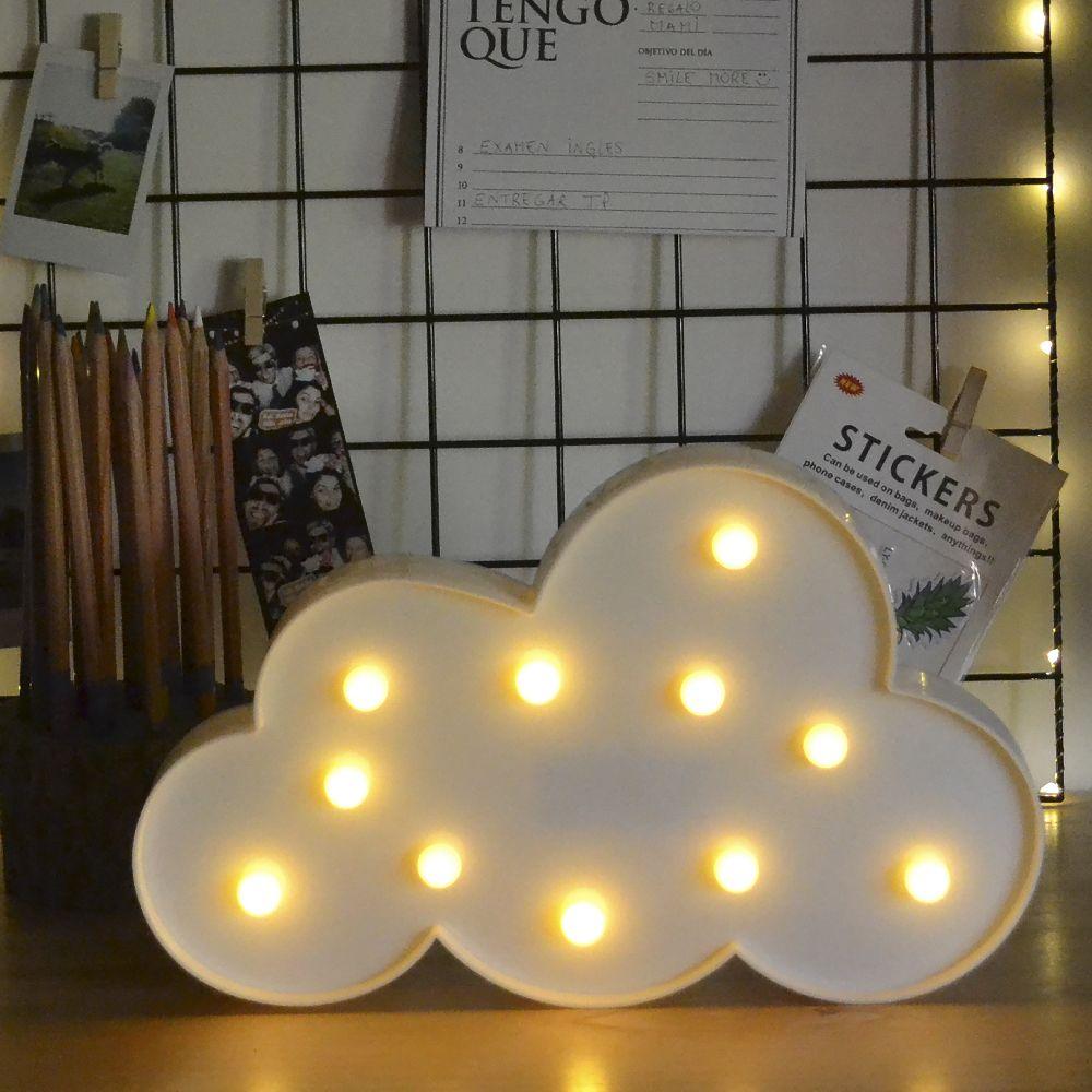 Nube Led Decoración De Habitaciones Lamparas De Carton Decorar Dormitorios