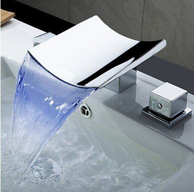 Design Wasserhahn Bad Mischbatterie Waschtisch Waschbecken Armatur Wasserfall Wasserhahn Bad Waschbecken Waschbecken Armaturen