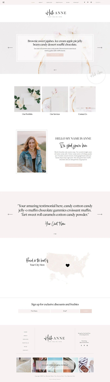 NEW* Wix Feminine Website in 2020 Feminine website