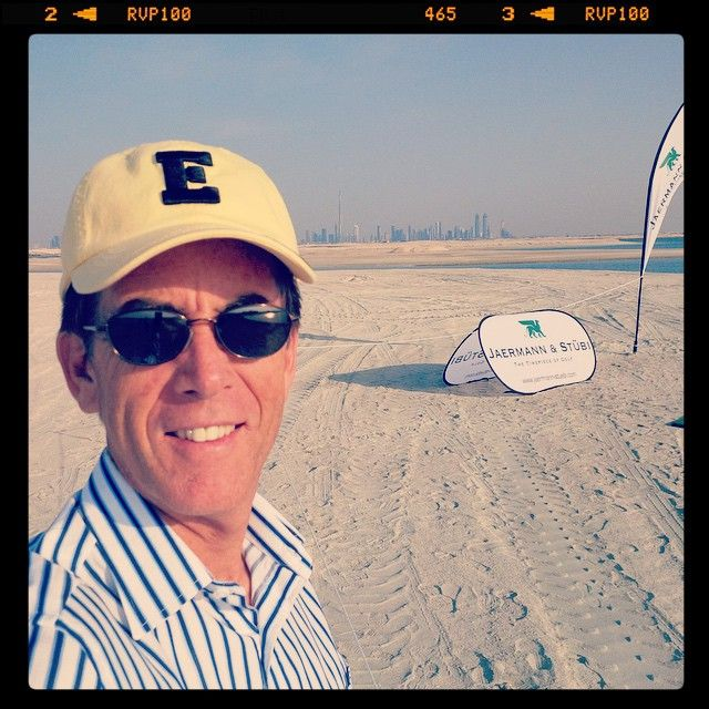 Here is a #TroonSelfie submitted by Mark Chapleski, Area Managing Director Troon Golf Middle East, from The World Islands located off the coast of Dubai. Mark was attending an event hosted by the Swiss watch maker, Jaermann & Stübi . #selfie #Troon #TroonGolf #PlayTroon