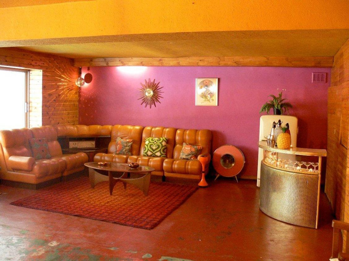 1970s Living Room | Still very much the 1970s, but with fabulous light courtesy of modern ...
