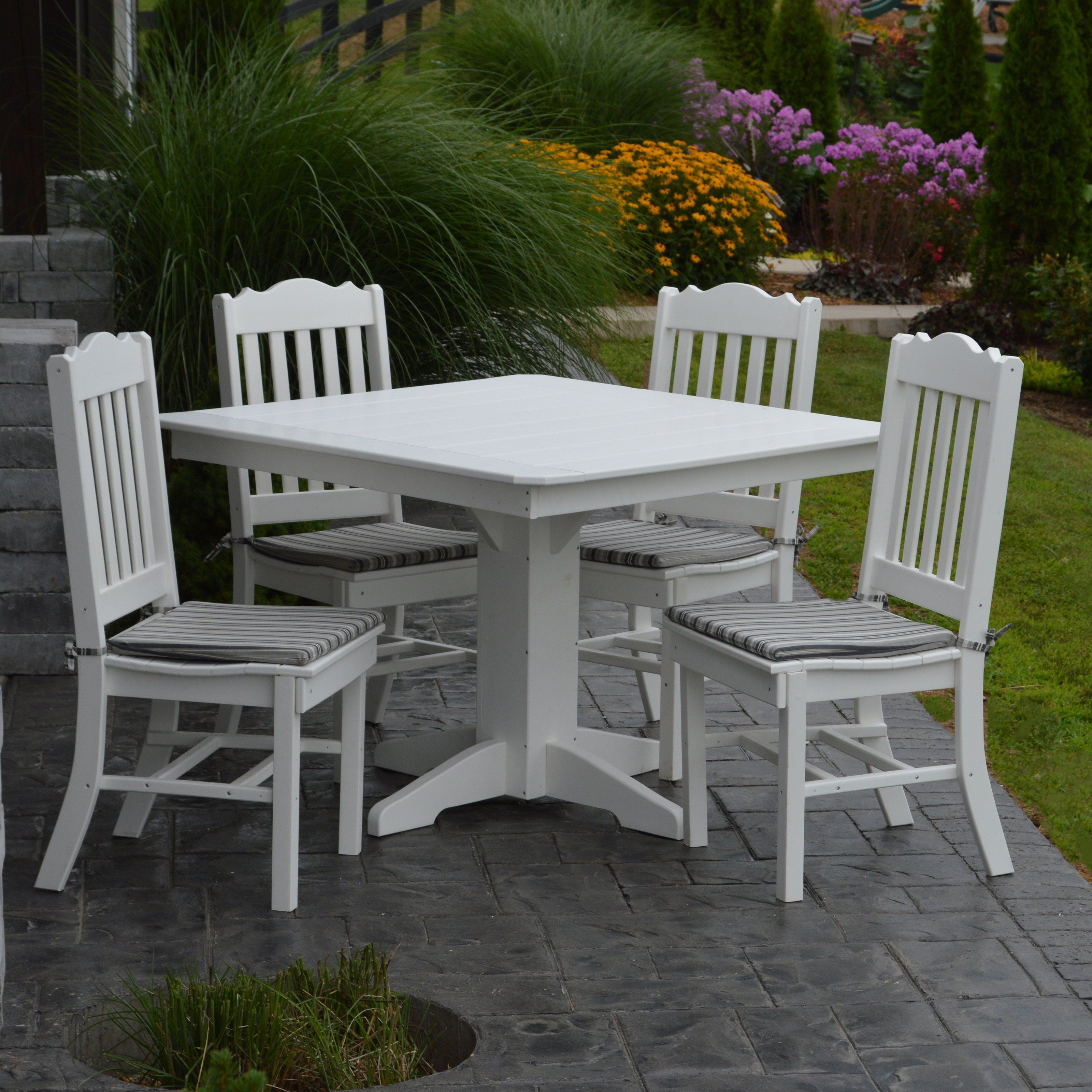 Patio Furniture Lehigh Valley Pa: Outdoor A & L Furniture Royal Poly 5 Piece Square Patio