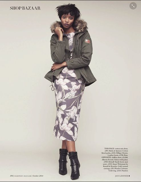 'Play It Cool' Nadja Giramata by Jan Lehner for UK Harper's Bazaar October 2014 [Editorial] - Fashion Copious