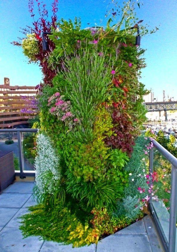 20 ideas sorprendentes para hacer jardines verticales en - Jardin vertical en casa ...
