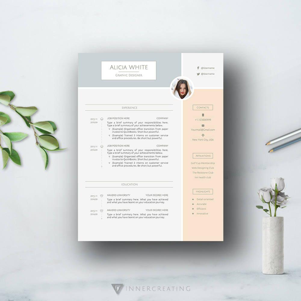 Modern Cv Template Resume Template For Word Professional Cv Format Curriculum Vitae Simple Resume Creative Resume Teacher Resume Modele De Cv Professionnel Modele Cv Curriculum Vitae