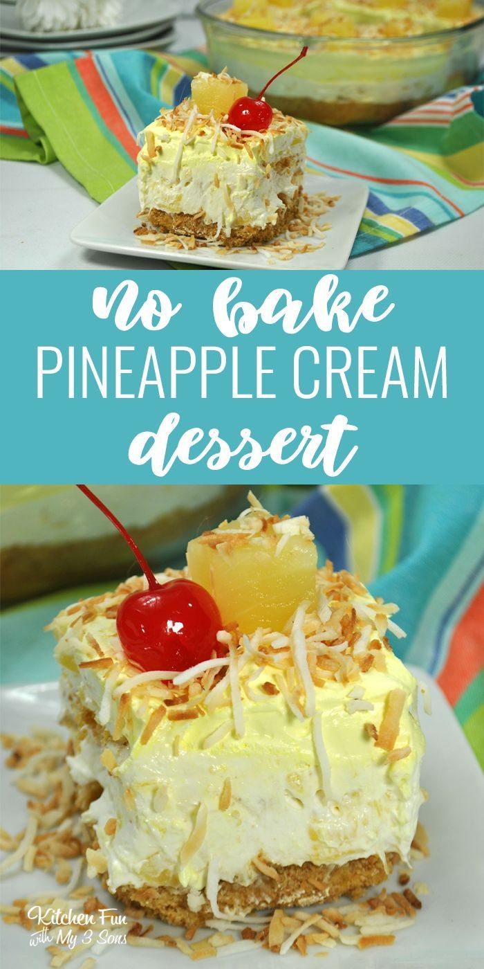No-Bake Pineapple Dream Dessert #dessertrecipes