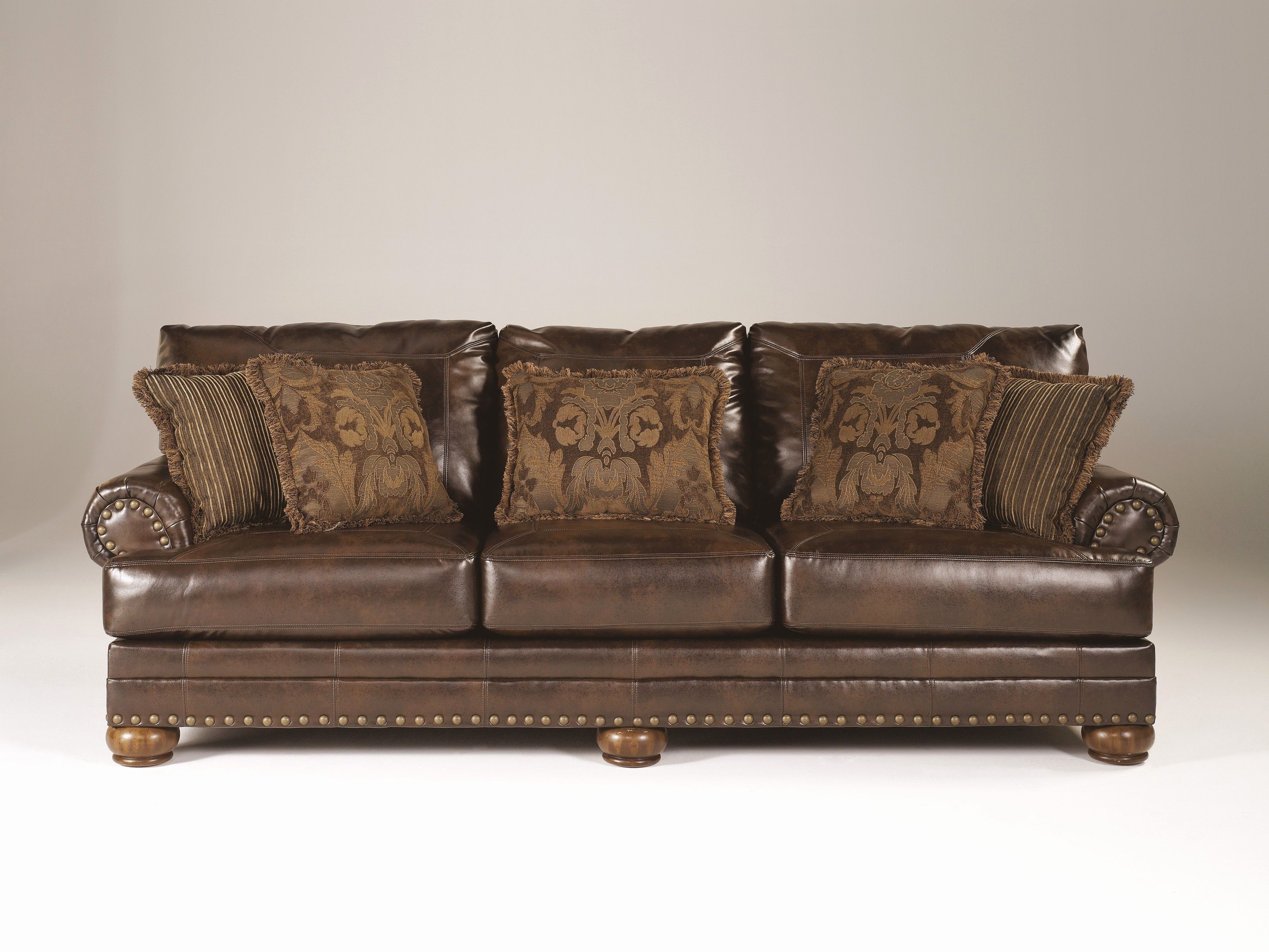 Inspirational Ashley Leather Sofa Images Ashley Brown Leather
