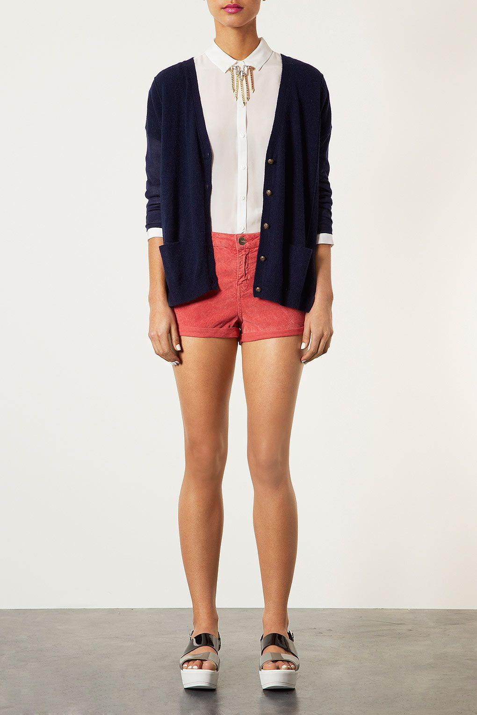 Cardigan and shorts
