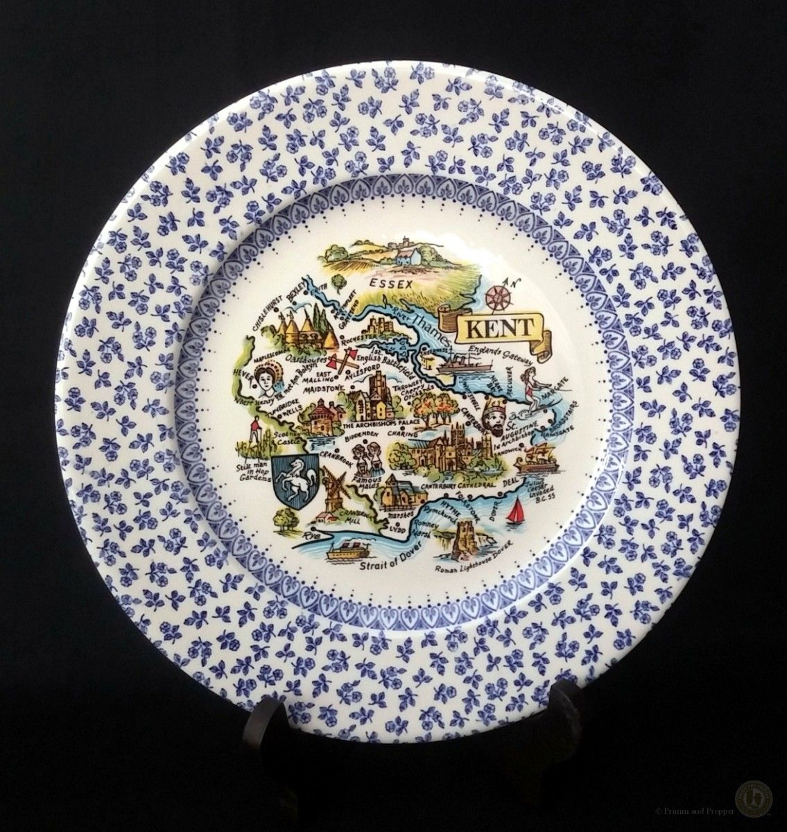 English Ironstone Tableware Ltd - Blue And White Chintz - Kent ...
