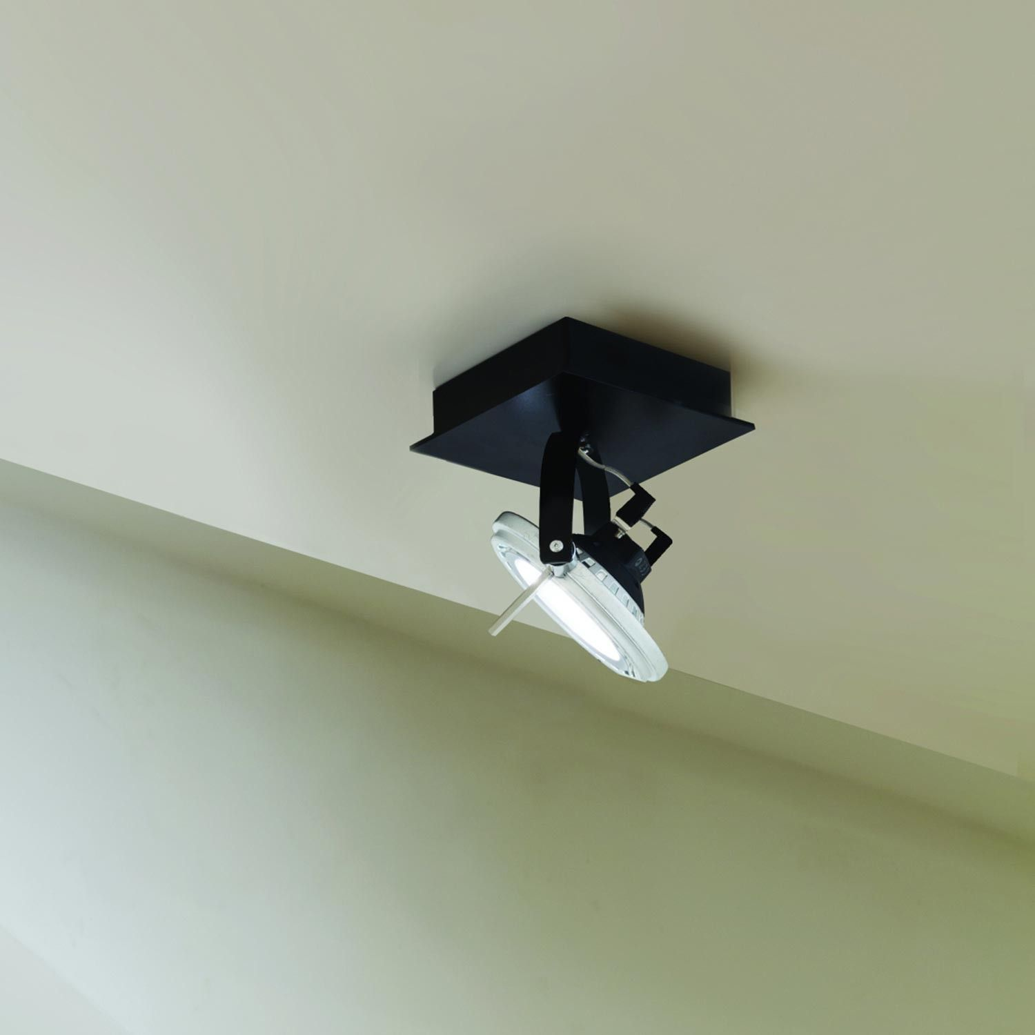 Kamerlamp Plafond Square Ceiling Wall Semi Recessed And On A 3 Phase Track Flamp