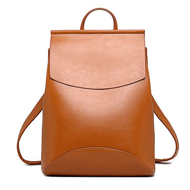 New Fashion Women Backpack Youth Vintage Leather Backpacks for ...