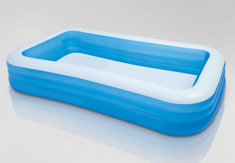 Swimmingpool aufblasbar rechteckig  Pools #INTEX #58484NP Intex 58484NP Aufblasbar Rechteckig Blau ...