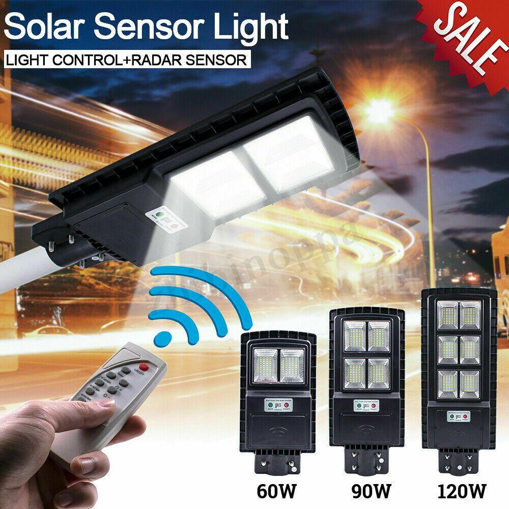 60w 90w 120w Led Solar Street Light Pir Motion Sensor Outdoor Wall Lampremote A Solar Lamp Solarlamp Sola Solar Lamp Solar Street Light Solar Wall Lights