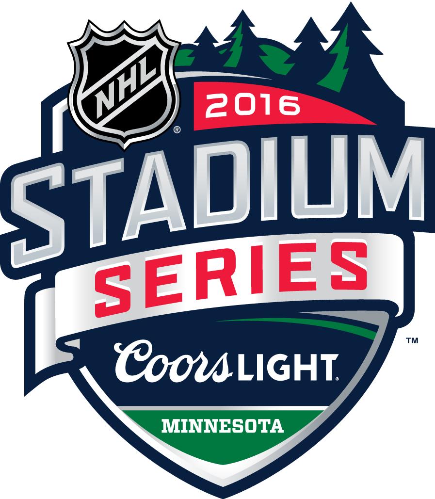 Nhl Stadium Series Primary Logo 2015 16 2016 Nhl Stadium Series Minnesota Wild Vs Chicago Blackhawks A Stadium Series Chicago Sports Teams Logo Nhl Logos