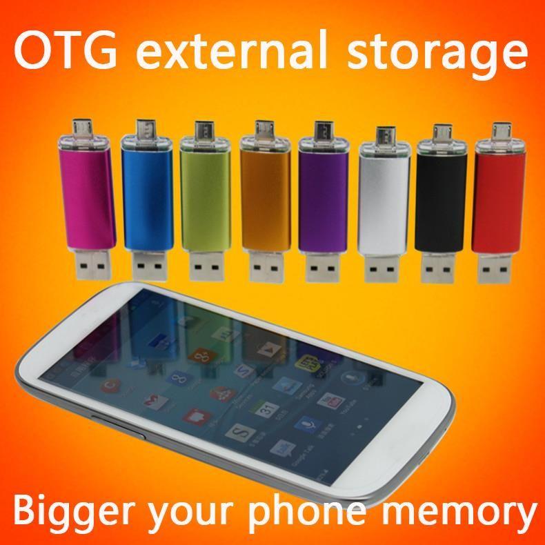 Smart Phone USB Flash Drive 1TB 2TB Pen Drive 8GB 16GB 32GB 64GB 128GB OTG Pendrive External Storage Micro Usb Memory Stick Gift