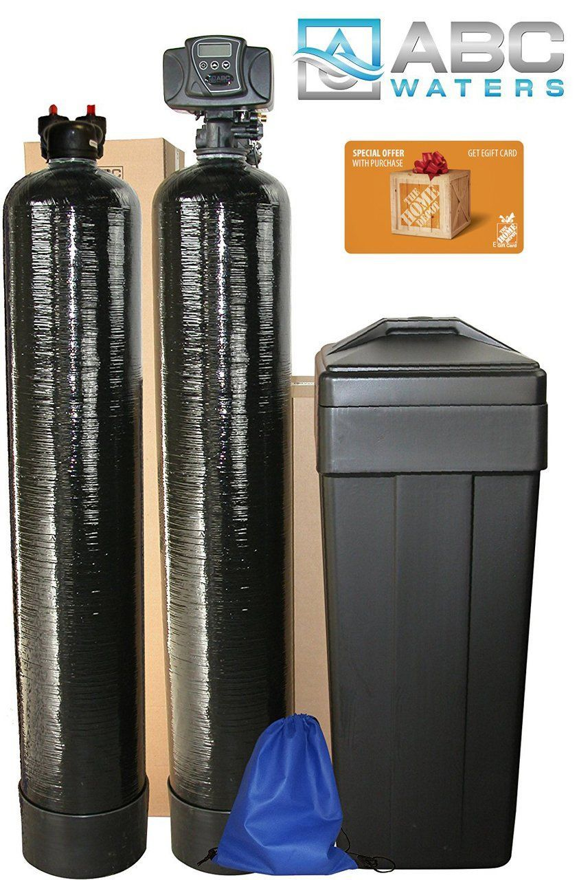 Abcwaters Built Fleck 5600sxt 48 000 Grain W 1 5 Cu Ft Upflow Carbon Tank Water Softener System Water Softener Whole House Water Filter