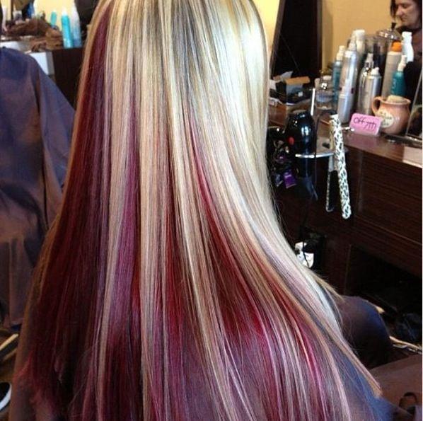 Red Hair With Blonde Streaks Underneath