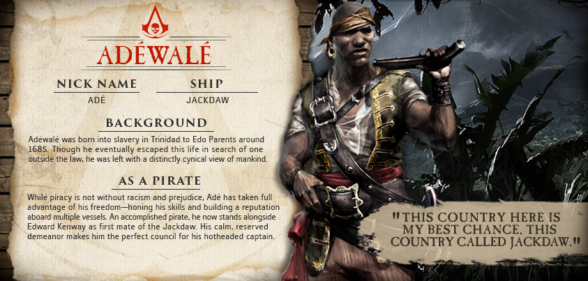 Ade Adewale Assassins Creed Black Flag Assassins Creed