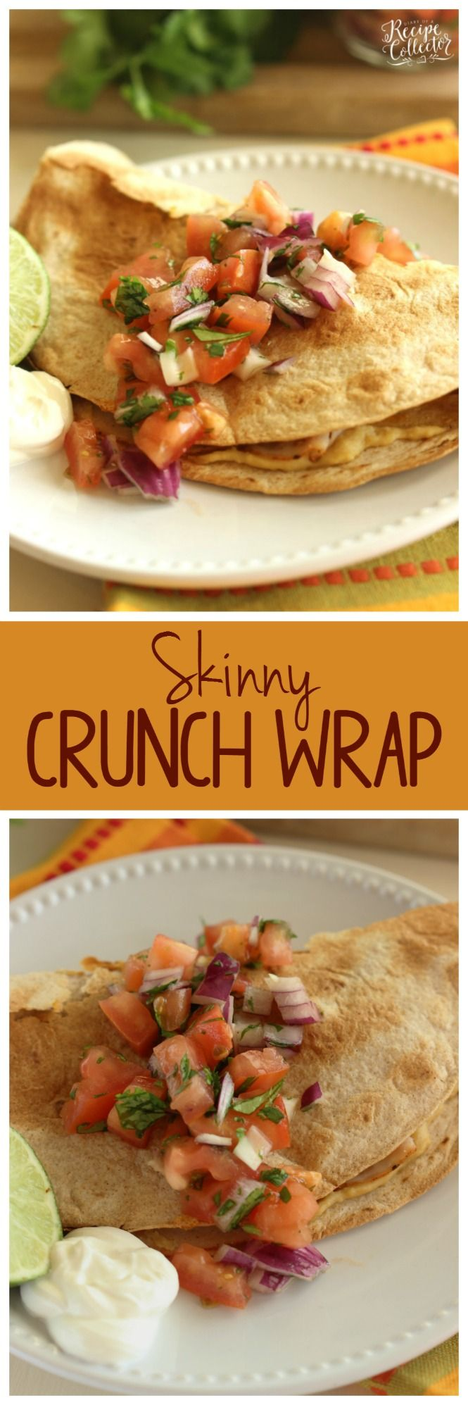 Skinny Crunch Wrap   An Easy And Light Lunch Idea Garnished With A Fresh  Pico Salsa.:
