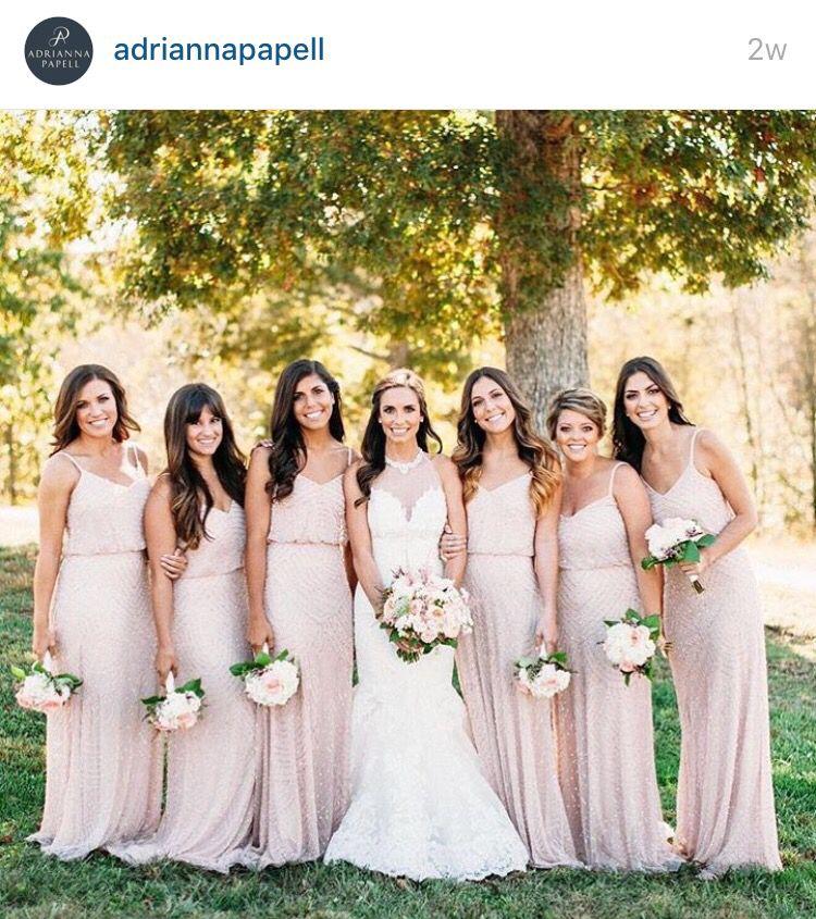 plush pink bridesmaid dresses