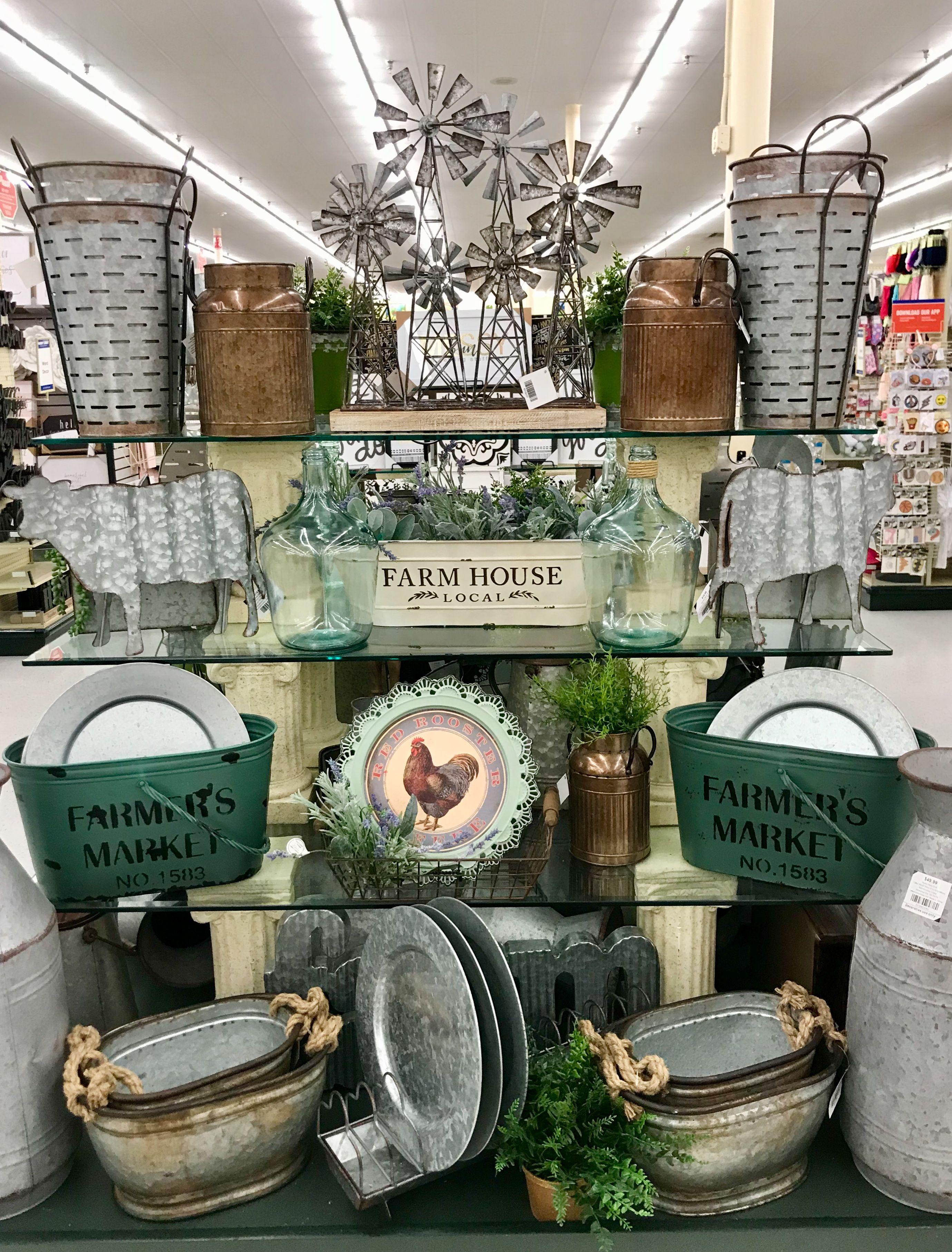 Hobby lobby merchandising table displays work Farmhouse