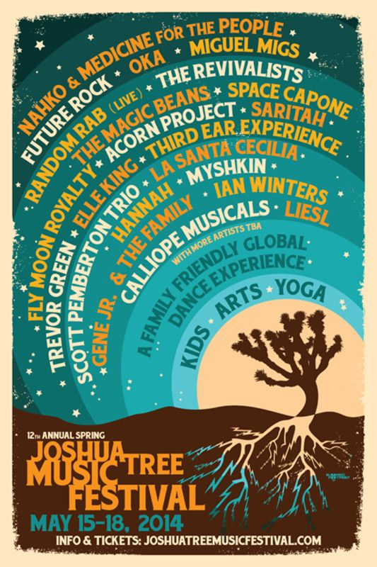 Joshua Tree, CA Come join us and be a part of the festival produced by a family of friends and funsters convinced that music is the soul of life, and that art enriches and saves lives. That the experience is enha… Click flyer for more >>