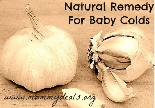Natural Remedy for Baby Colds using #garlic! This is awesome and