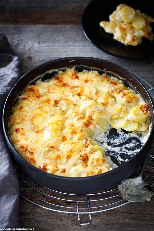 Kartoffelgratin mit Kräuterfrischkäse und Emmentaler - emmikochteinfach #foodsides