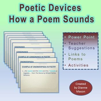 Poetic Devices How A Poem Sounds Power Point Presentation