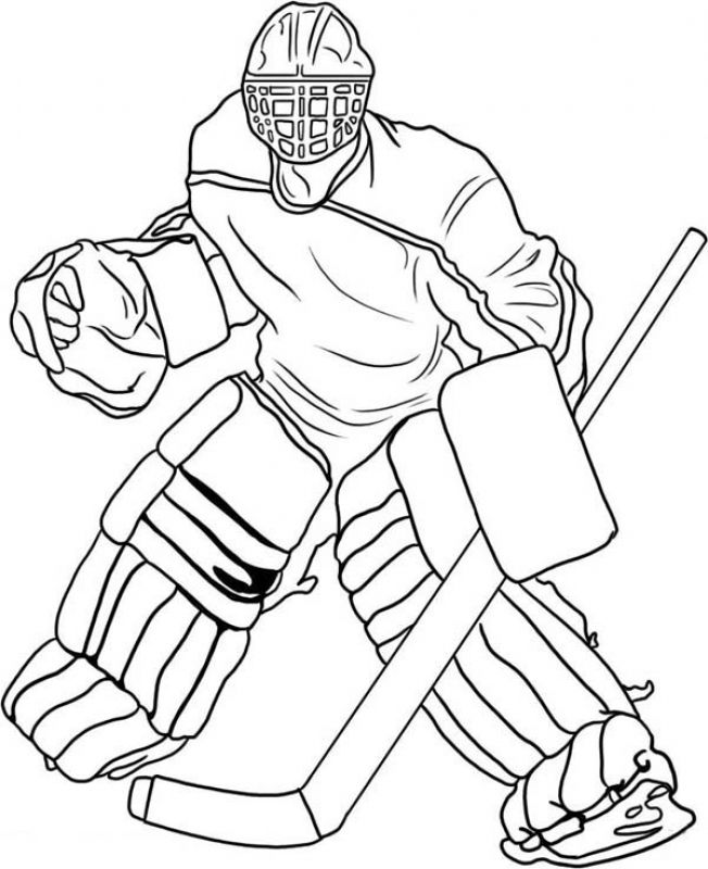 Free pro Hockey player coloring