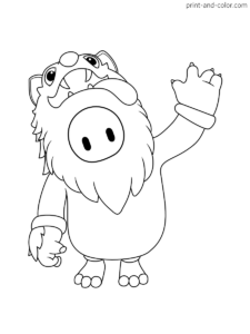 Fall Guys Coloring Pages The Fall Guy Coloring Pages Guys
