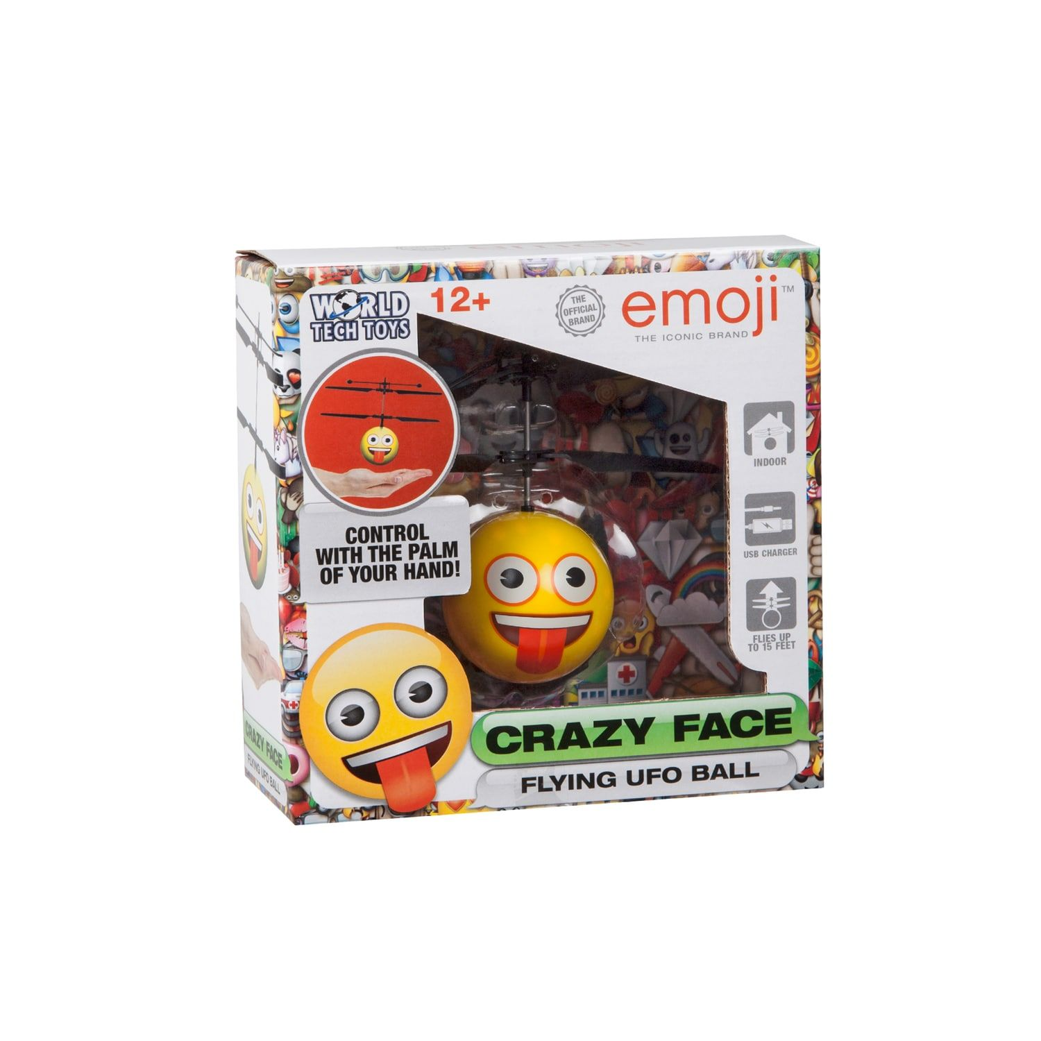 World Tech Toys Crazy Face Emoji Heli-Ball #techtoys