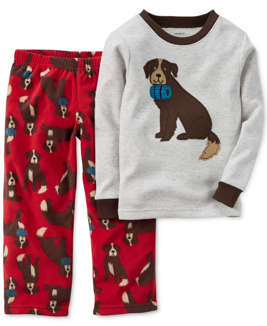 caf008e17d83 Carter s Boys  or Little Boys  2-Piece Dog Printed Pajamas ...