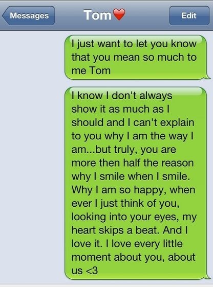Best Love Text Messages For Boyfriend