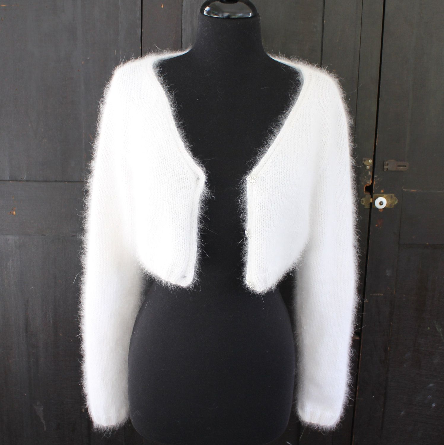 PATTERN - Kate Middleton Royal Angora Wedding Shrug/Bolero Knitting ...