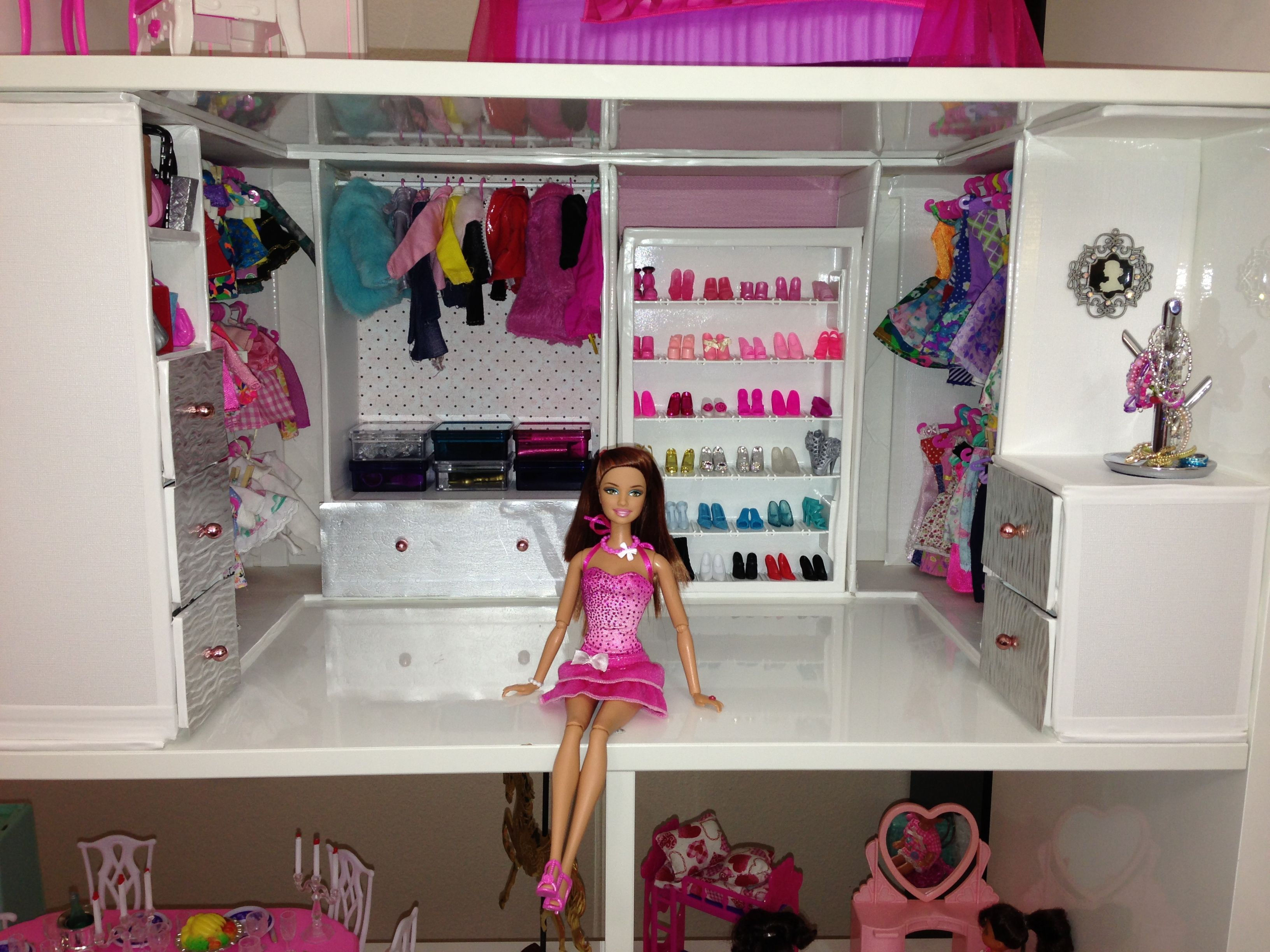 Make Your Own Barbie Furniture Property Gorgeous Barbie Custom Closet  Barbie Crafts  Pinterest  Custom Closets . Decorating Inspiration