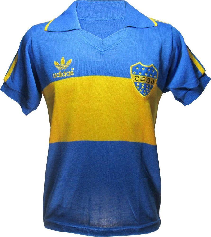 outlet store 6e6af 78aee CA Boca Juniors Argentina Retro Jersey Brazil Soccer ...