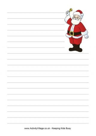 Christmas Writing PaperA Lined Paper Without Margin  A Lined