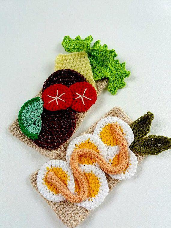 Crochet Sandwich Set. Amigurumi. Handmade, eco friendly | Pinterest ...