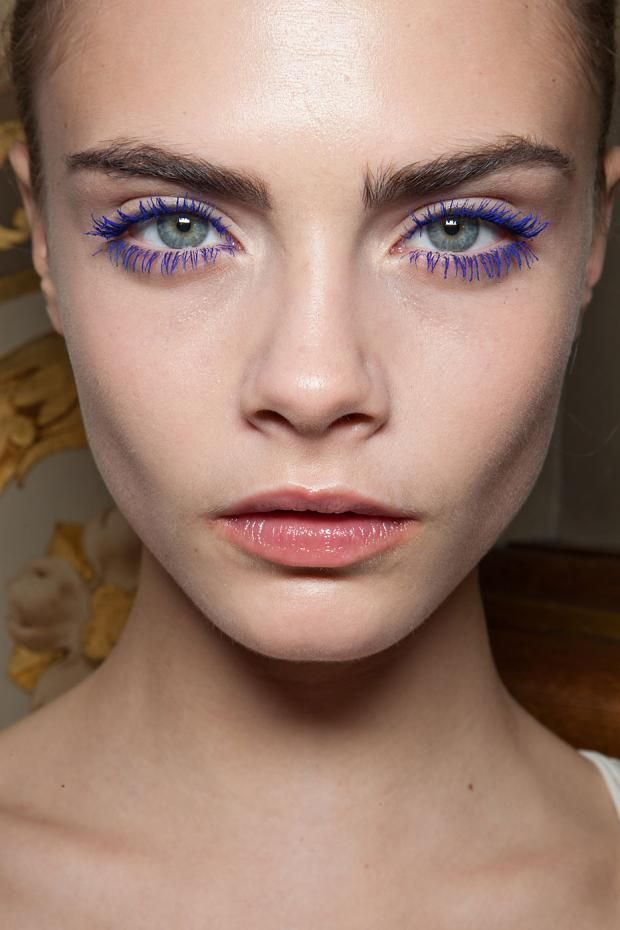 99006d6d395 Coloured Mascara to make eyes pop... I guess the beautiful face helps too. Cara  Delevingne makes it look too easy.