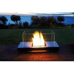 Photo of Radius Design Uni Flame 3 stainless steel I white – ethanol fireplace Radius DesignRadius Design