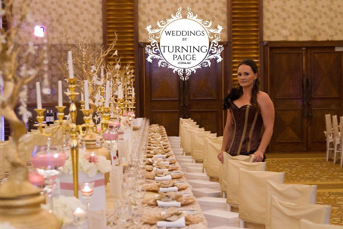 Wedding hall decoration images  Turning paige Kira J keam Wedding reception dinner centrepieces